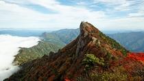 秋の石鎚山