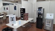 共用スペースではご神水コーヒーを飲むこともできます。消毒液のご準備もございます。