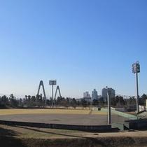 *<内灘町総合公園>野球場