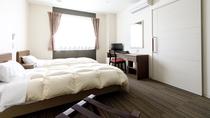 *【ツインルーム】白を基調としたスタイリッシュなお部屋