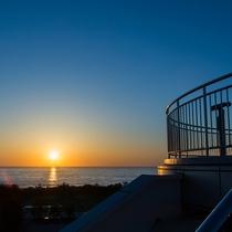 【展望台からの眺め】日本海が一望できます