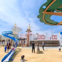 【海族船サンセット号】子供たちの冒険心をくすぐる遊具がたくさん