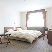 【ツインルーム】白を基調としたスタイリッシュなお部屋