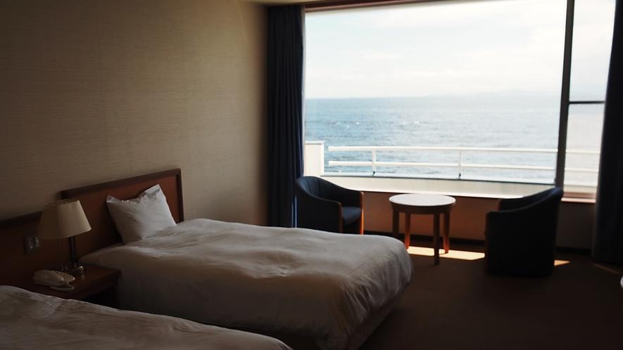 【禁煙】伊勢湾を望む海側洋室(ツインルーム)