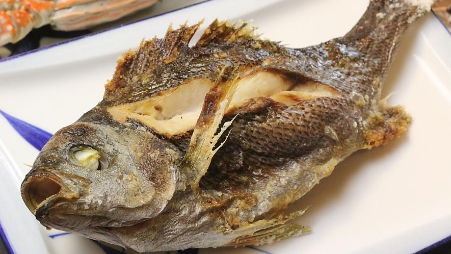 イサキの焼魚(コース料理内容の一例)