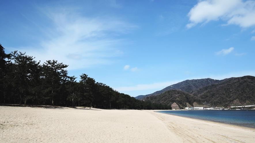 *日本三大松原の一つ『気比の松原』白砂青松のコントラストがとても美しい。