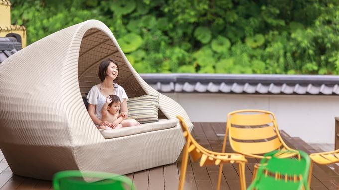 【ママの休日】チェックイン前から遊べる。ママはゆっくり温泉、パパは子供たちと思いっきり遊んで。