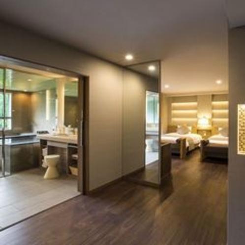【エグゼクティブルーム】最上11階、展望風呂を備えた贅沢なスイートルームです。