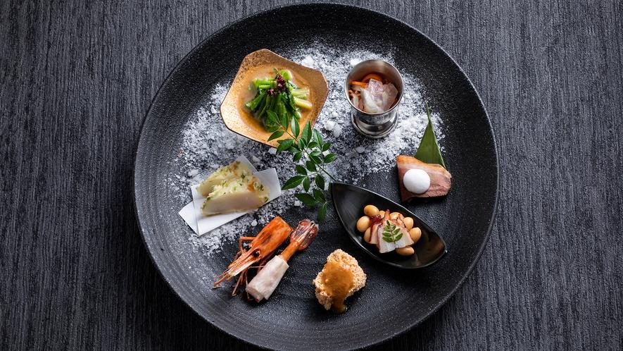 【もりの風茶寮・2020-21年冬】今回は北海道と宮城県の名物料理をテーマとした会席コースです。