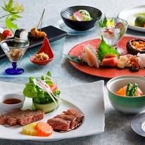 【もりの風茶寮・夏】北海道と岩手県の旬のお料理を会席仕立てでお楽しみ下さい。