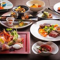 【もりの風茶寮・春】春は北海道と宮崎県の名物料理を会席仕立てでご用意致します。