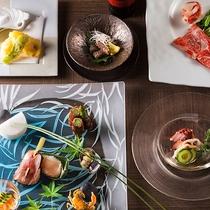 【もりの風茶寮・夏】この夏は北海道と山口県をテーマとした和食会席をお楽しみ下さい。