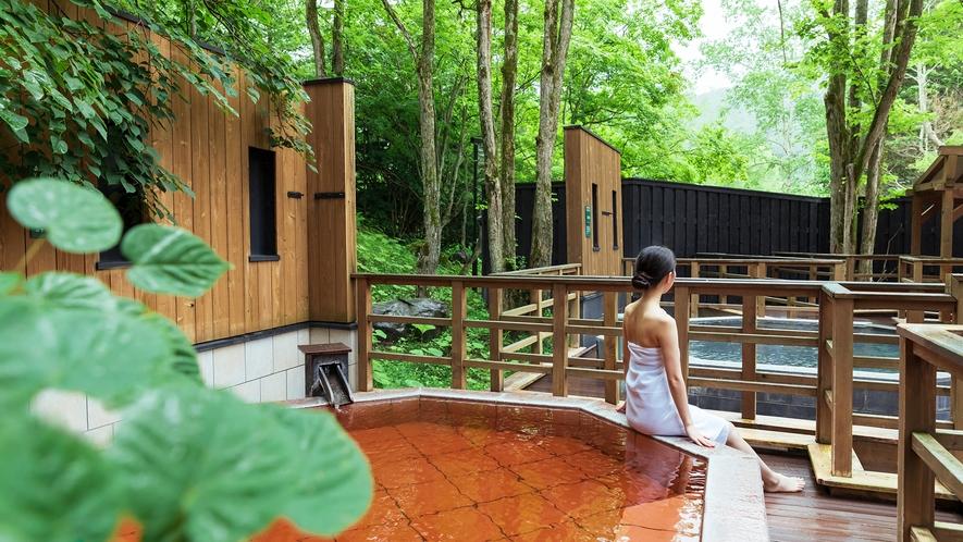 【森の散歩湯WOOD SPA】鮮やかな緑に囲まれて癒しの休日。