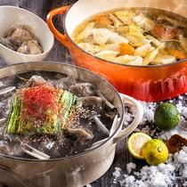 【12~2月限定・夕食ブッフェ】黒松内ポークの旨みが溶けた柚子塩スープと、辛旨!胡麻坦坦餃子。