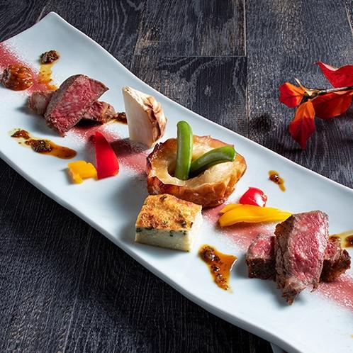【もりの風茶寮・2020年秋】強肴は2種の和牛ステーキ食べ比べ。(変更の場合あり)