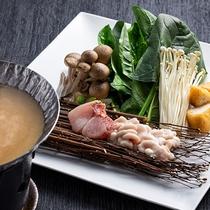 【もりの風茶寮・2020-21年冬】宮城県の郷土料理「はっと鍋」を贅沢魚介で。