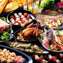 【ブッフェ・一例】旬の食材を使った多彩なブッフェメニューをお楽しみ下さい!