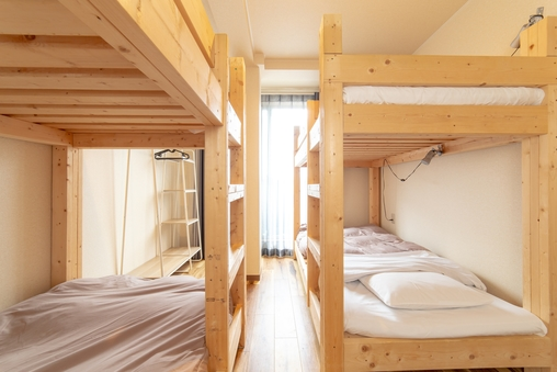 【朝食付き】1〜4人個室(2段ベッド・シャワー・トイレ共用)