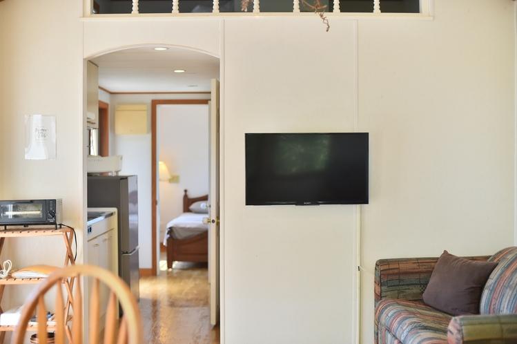 ・ダブルスイート:テレビは壁面に設置しています