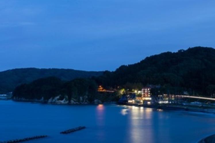 浪板海岸の夜景