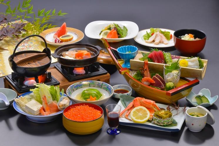 料理一例 鮭つくし会席