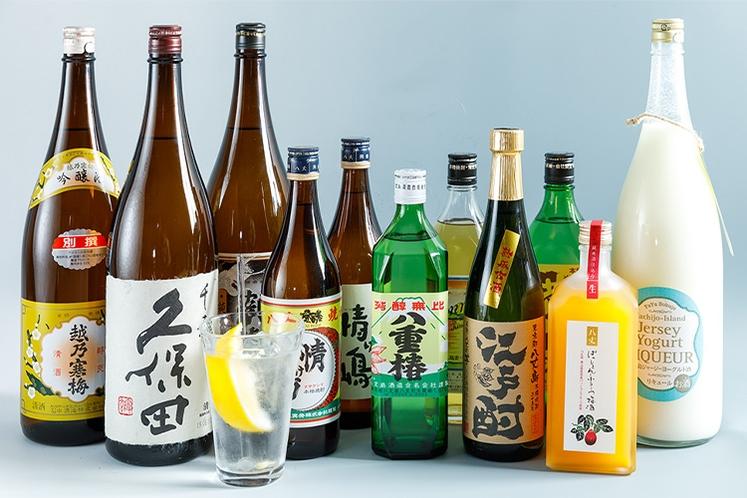 【夕食】島焼酎などアルコールも充実