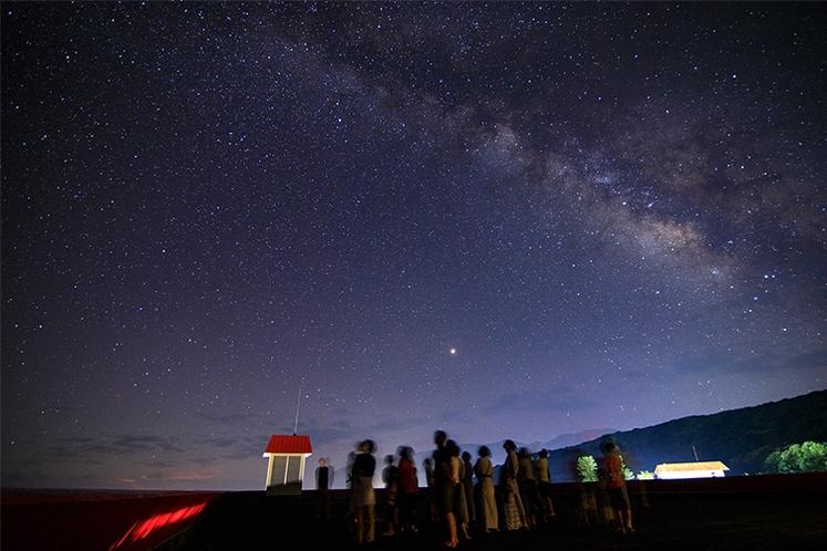 天体ガイドによる星空観察会を不定期で開催