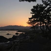 *岩井崎からの眺め/美しい夕陽の絶景!三陸復興国立公園の最南端・岩井崎は当館からすぐ。
