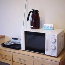 *館内/2階には電子レンジ、ポット等ございます。ご自由にご利用ください。