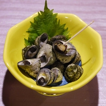 *夕食一例/しったかの塩茹で。これが旨い!酒の肴に最高です!※料理内容は水揚げ状況により異なります。