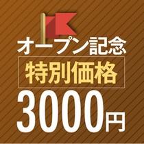 オープン記念特別価格3000円
