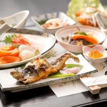 *夕食一例/当館自慢のニジマスフルコース!新鮮なニジマスづくしをお楽しみください。