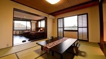 *【(山側)デラックスファミリールーム一例】モダンな印象の広々とした和洋室。