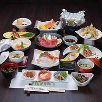 *【秋田由利牛しゃぶしゃぶ御膳(一例)】季節によってお料理内容は変わります。