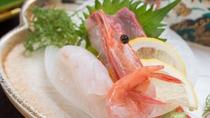 *【夕食一例】鮮度抜群のお刺身。プリっとした食感と、とろける美味しさ。