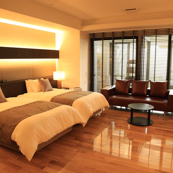 【豪華な離れタイプ】35平米の露天風呂付きモダン客室(禁煙)