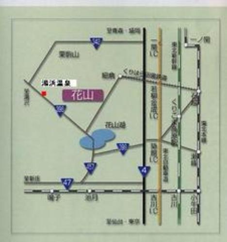 湯浜温泉地図