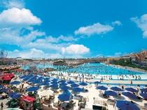 【ラグナシア】プールオープン!ジョイアマーレの浜辺(ウェイブプール)