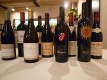 常に30~40種ほどのワインを取り揃えております