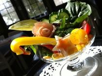 夕食の一例(サラダ):ガーデンサラダ