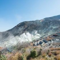 *【周辺観光】大涌谷では火山の迫力を間近で楽しめます。