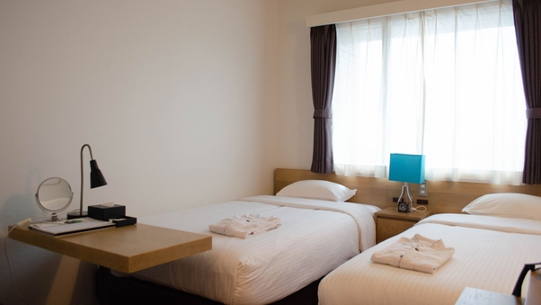 禁煙■ツイン|ベッド幅110cm/16平米/Wi-Fi可