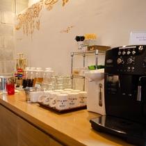 【カフェ&バーYui】ご滞在中はコーヒー・紅茶・さんぴん茶のドリンクバーをご利用いただけます。(10