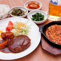 隣接する韓国料理「のほほん」料理一例