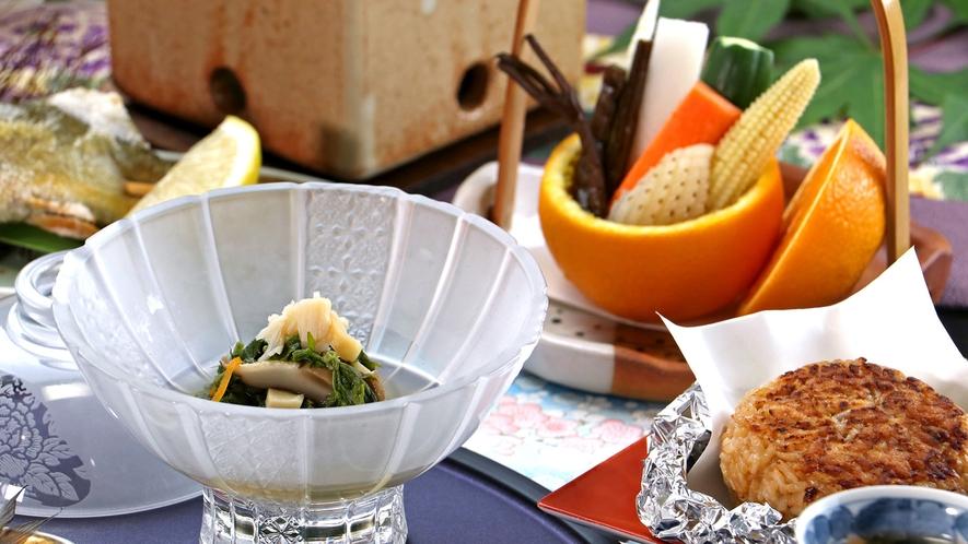 【お食事一例】旬にこだわり、一品一品心を込めて。季節の味覚をお楽しみに♪