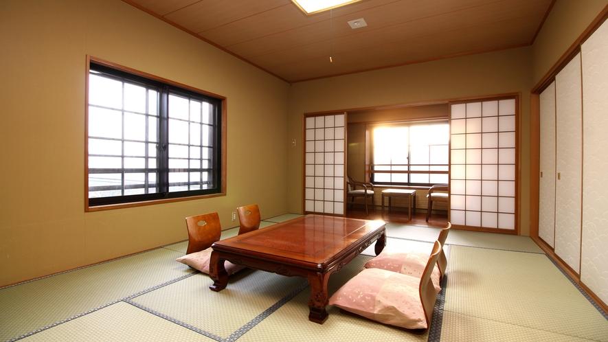 【客室一例*12畳】大きめの畳を使用し、広々とお寛ぎいただける和室