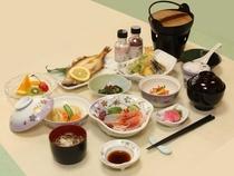 菖蒲コースの夕食例