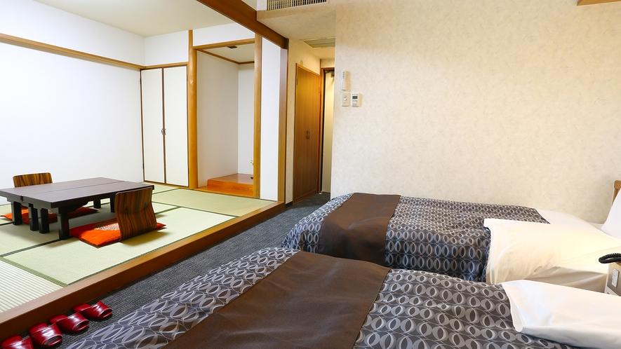 和洋室。家族旅行やグループでのご利用におすすめです。