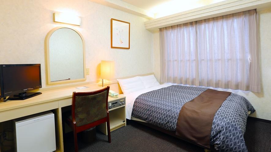ワイドシングル(ダブルベッド)リラックスできる幅140cmのワイドなベッド。