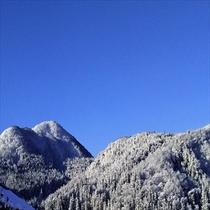 お部屋からはこのような雪景色が見えますよ